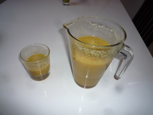 Le nouveau jus pomme-céleri-orange-grenade
