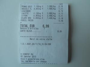 Avec 8 euros, on peut préparer 4 jus verts