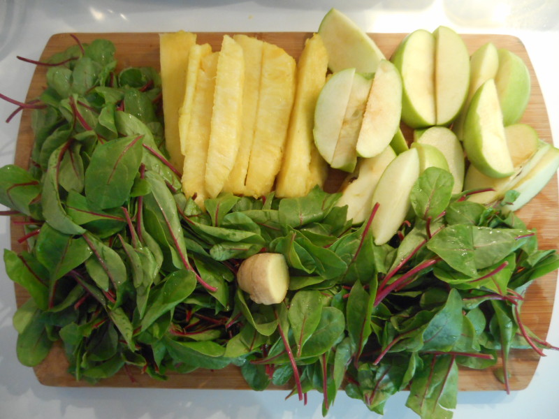 jus-d'épinard-pomme-ananas