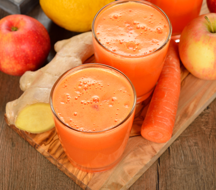 jus gingembre curcuma pomme carotte